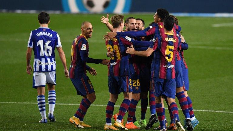 Де Йонг донесе победата на Барселона над лидера