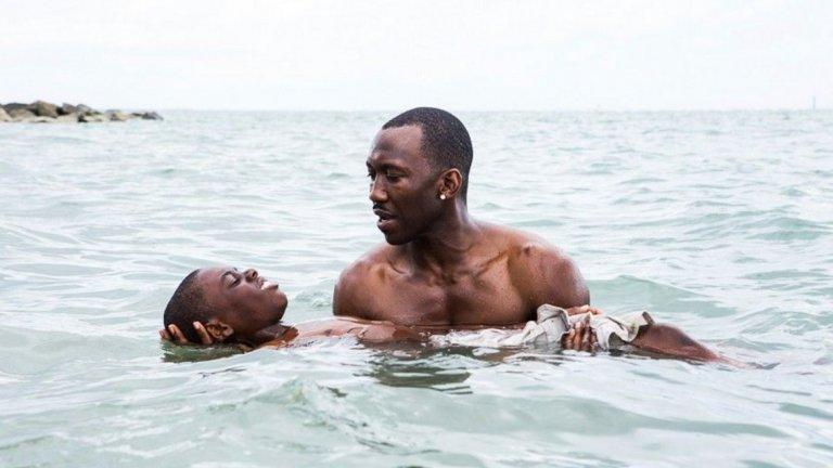 """Лунна светлина / Moonlight (2016)   Големият пробив на голям екран за Али е в ЛГБТ драмата, която разказва за порасването на момче и сблъсъка му със собствената му идентичност и сексуалност. Махершала Али играе бащата на момчето, а за ролята си печели и """"Оскар"""" за поддържаща роля. Така става и първият мюсюлманин, взел отличието."""