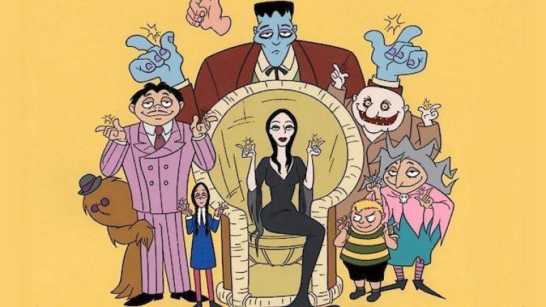 """The Addams Family/ """"Семейство Адамс""""  Шантавите, зловещи и супер странни семейство Адамс влизат в света на Хана и Барбера през 70-те години. Преди това историята се появява като комикс и ситком на друго студио, докато правата не са взети окончателно от H-B.   Поредицата надгражда над успеха над своите предшественици като акцентира изцяло върху странните интереси на членовете от семейството, които никога не разбират защо всички се страхуват от тях."""