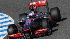 Пилотите на McLaren имат проблеми с издръжливостта на гумите в Бахрейн