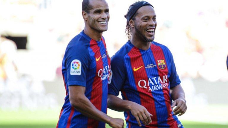 Наскоро изнесе същински спектакъл в мач на Легендите на Барселона, заедно със сънародника си Роналдиньо.