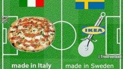 Италия - Швеция в една снимка