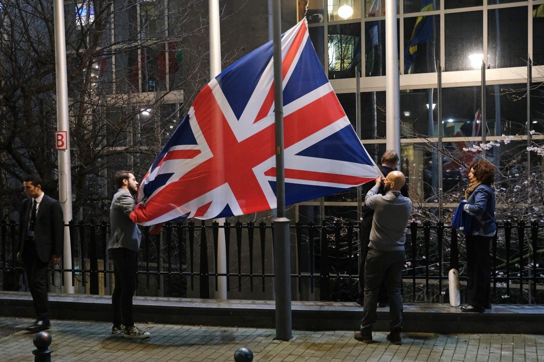 ...в Брюксел знамето на Великобритания беше свалено от европейските институции.