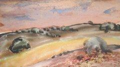 Нарисувани майсторски, с много усет и умереност, акварелите му внушават чувство на уют и хармония