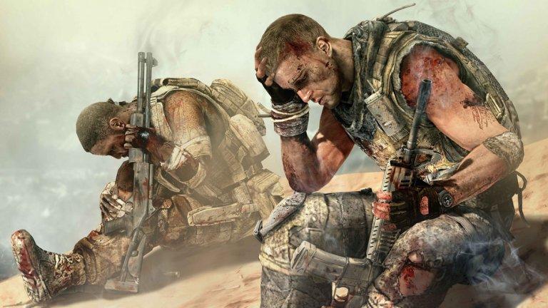 Spec Ops: The Line (PS3, Xbox 360, PC)  Като геймплей играта наистина прилича на далеч по-именитата Gears of War, но именно историята дава на Spec Ops: The Line собствена идентичност. Поне донякъде това се дължи на романа, от който студиото черпи вдъхновение за екшъна. Като изключим игри като Dante's Inferno, Spec Ops: The Line е едно от заглавията, които се опират на някои от най-старите първоизточници - романът Heart of Darkness на Джоузеф Конрад е издаден през 1902 г., а в първоначален вид отделните му части датират още от 1899 г. Разбира се, между пътешествията на Чарлз Марлоу в дебрите на Африка и тези на капитан Мартин Уокър в Дубай има голяма разлика, така че в много отношения историята в Spec Ops: The Line е напълно оригинална. Дубай в света на Spec Ops: The Line е засипан от жестоки пясъчни бури, а в откъснатия от външния свят мегаполис се случват странни неща. Капитан Уокър и екипът му трябва да се доберат до американския полковник Конрад, който е останал в Дубай, за да помага на населението в лицето на страшния катаклизъм. След като известно време от него няма никаква вест, армията засича сигнал, който дава повод на Уокър и екипът му да поемат настоящата мисия.  По-нататък нещата не стават по-ясни. Оказва се, че дори суровите пясъчни бури не са най-лошото нещо, което може да връхлети екипа. Защо полковник Конрад е останал в града и какви са истинските му мотиви? Spec Ops: The Line ни показва една мрачна и безмилостна страна на конфликта, който е колкото из пустите улици на мегаполиса, толкова и в главата на главния герой.