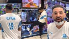 """Влогър с фланелка """"FUCK MESSI"""" вилня в магазин за техника (видео)"""