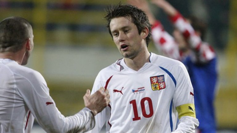 Томаш Росицки отбеляза гол за Чехия, но тимът му загуби с 2:4 от Хърватска в най-резултатната контролна среща