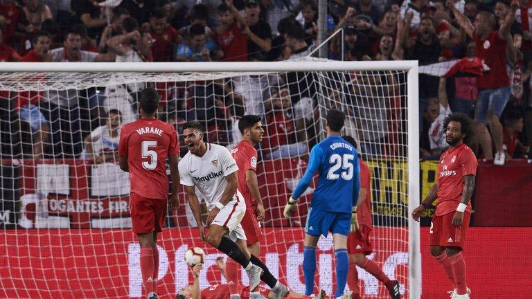 Севиля напълно заслужено отнесе Реал с два гола на Андре Силва и един на Бен Йедер