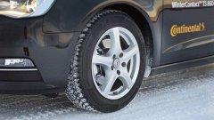 """Клас """"Малък автомобил"""", 175/65 R14 T  1. Continental WinterContact TS860 - обща оценка """"Добър""""  Оценки """"Добър"""" за: шофиране при суха, мокра, заснежена и заледена настилка; разход на гориво; износване Оценка """"Задоволителен"""" за: шум/комфорт"""