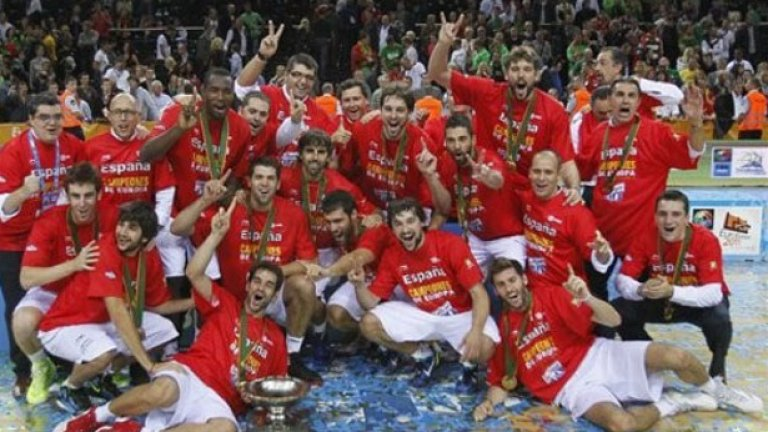 Испания стана европейски шампион по баскетбол за втори пореден път