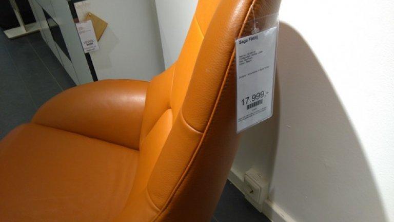 Скандинавският дизайн се предлага навсякъде по улиците на Малмьо. В огромния магазин за мебели Bolia на централната улица, този стол е на скромната цена от 2000 евро.