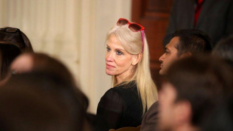 """Най-слаба актриса в поддържаща роля  Келиан Конуей - медийният съветник на Доналд Тръмп също беше отличена за появата си във """"Fahrenheit 11/9""""."""