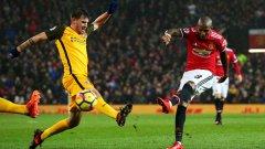Юнайтед излъга Брайтън, Тотнъм се издъни срещу опашкар