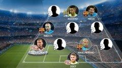 Ето ги и идеалните 11 на втората седмица от 1/8-финалите в Шампионската лига...