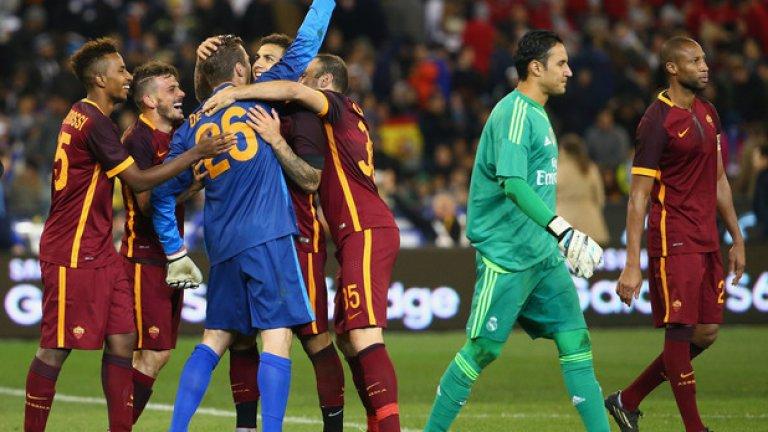Реал (Мадрид) записа загуба в дебюта на Рафа Бенитес. Морган Де Санктис ликува, след като спаси дузпата на Данило.