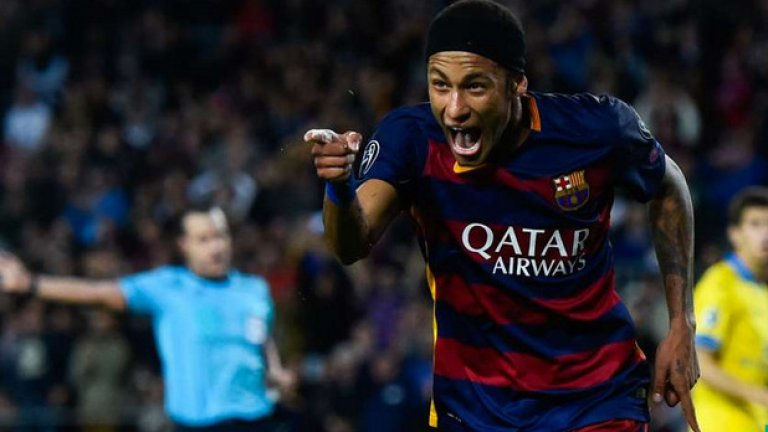 Неймар, Барселона Разписа се на два пъти във вратата на БАТЕ за победата с 3:0.