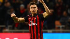 Пьонтек има осем гола в девет мача за Милан във всички състезания