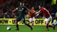 Агуеро отново вкара, а Сити не допусна изненади срещу Бристъл и е на финал