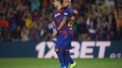 Бързите голове на Суарес и Видал решиха рано мача, но към края каталунците си изкараха два червени картона