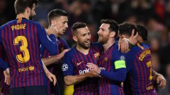 Меси отново поведе Барселона към победата и към следващата фаза