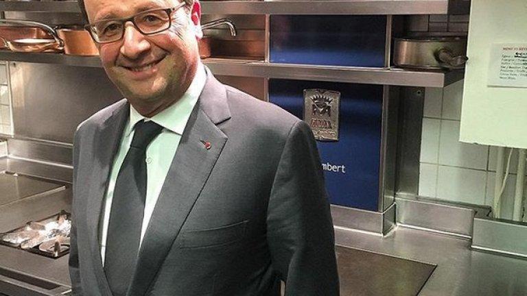 ... френският президент Франсоа Оланд.