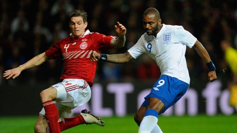 Дарън Бент вкара първия гол за Англия срещу Дания