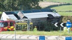 Катастрофата е станала в 13:15 часа местно време близо до Килмарнък.