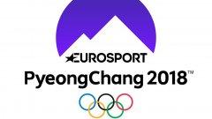 """Новото лого на """"Евроспорт"""" във връзка със Зимните олимпийски игри в Пьончан през 2018 година."""