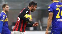 Два гола на бранител спасиха Милан от първа загуба