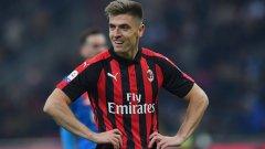 Кшищоф Пьонтек дебютира от скамейката за Милан