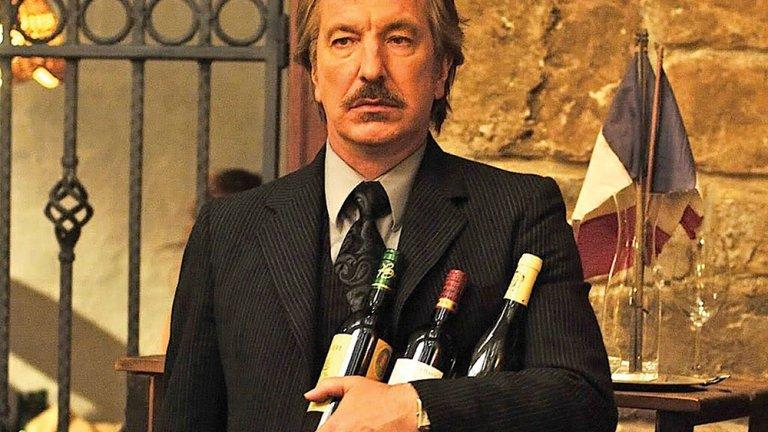 """Във филма """"Bottle Shock"""" от 2008 Рикман играе винен критик. Комедийната драма от 2008г. е базирана на винен конкурс от 1976г., наречен """"Страшния съд"""", когато калифорнийското вино побеждава френското в сляп тест за вкус."""
