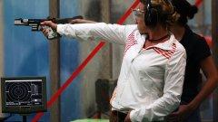 Гроздева, която е и президент на Българския стрелкови съюз, спечели седма олимпийска квота