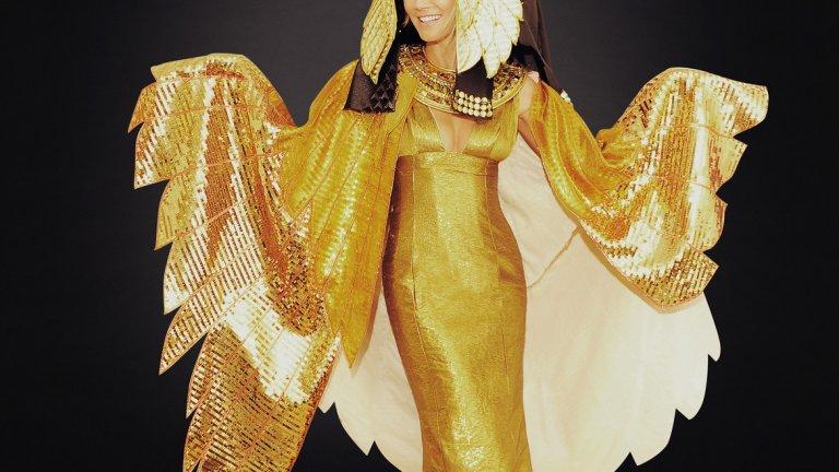 Хайди Клум в костюм на египетско божество