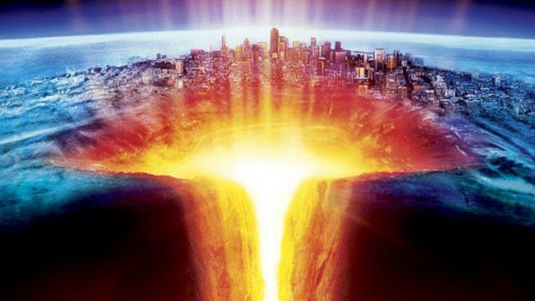 The Core / Ядрото (2003) - Земята изпада в самоубийствено настроение и ядрото на планетата спира да се върти. Екип от учени, водени от двойната брадичка на Аарън Екхарт (Харви Дент в The Dark Knight), решава да върне на планетата желанието за живот. Как? Като пробие повърхността й, стигне до ядрото и взриви там няколко ядрени бомби, за да започне то пак да се върти.