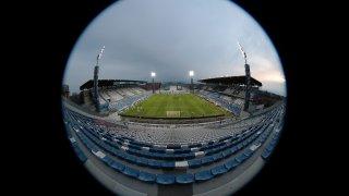 """Снимка на празния стадион от последния мач в Серия """"А"""" досега - победата на Сасуоло с 3:0 над Бреша, който се игра на 9 март"""