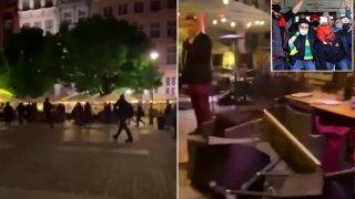 Полски хулигани нападнаха фенове на Юнайтед преди финала (видео)