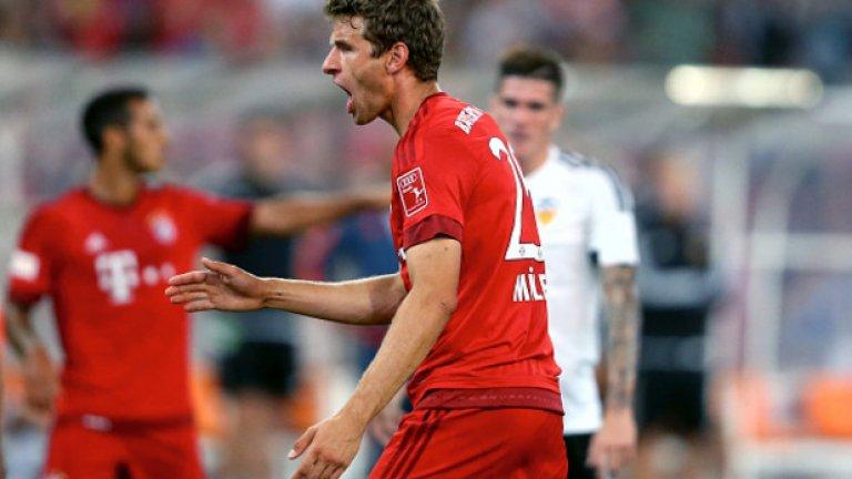 Мюлер се отчете с два гола за разгрома, в края Левандовски също вкара два