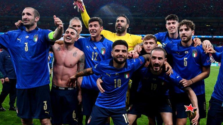 """Италия е на европейския връх! Кошмарът на дузпите възкръсна за Англия насред """"Уембли""""!"""