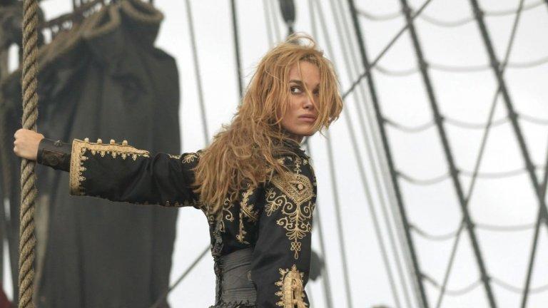 """Актрисата като Елизабет Суон в """"Карибски пирати"""" - ролята, с която придоби световна слава. Имаме особен сантимент към момента, в който закопчава Джак Спароу (Джони Деп) и го оставя на произвола на чудовището Кракен."""
