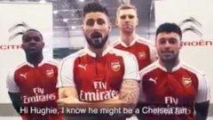 Звезди на Арсенал помагат на младоженец да се хареса на новия си тъст