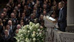 Обама, Буш и Кисинджър изпратиха с почести Джон Маккейн