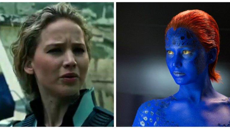 """5.Дженифър Лоурънс На пето място е Дженифър Лоурънс, най-платената актриса в света, която през 2011 година игра """"Мистика"""" - героиня от """"X-men-Началото"""". Звездата пак се превъплъти в този персонаж - в """"X-men - Дни на отминалото бъдеще"""" и """"X-men - Апокалипсис""""."""