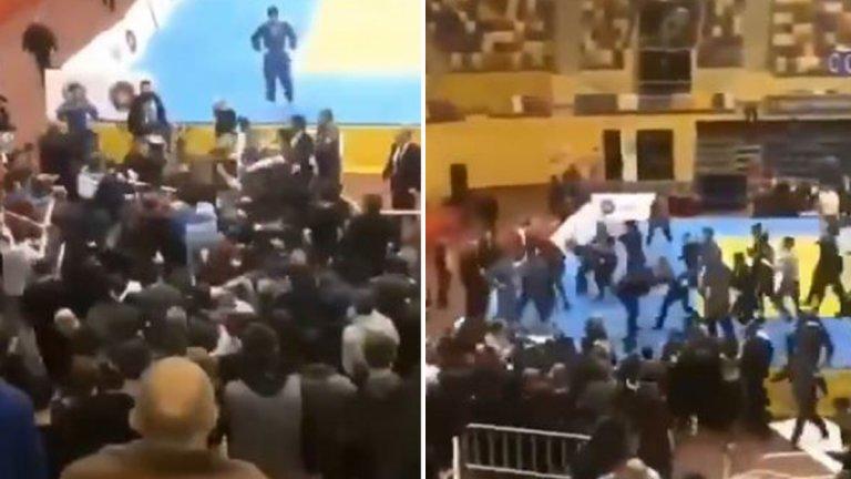 Брутално меле на детски турнир по джудо в Дагестан (видео)