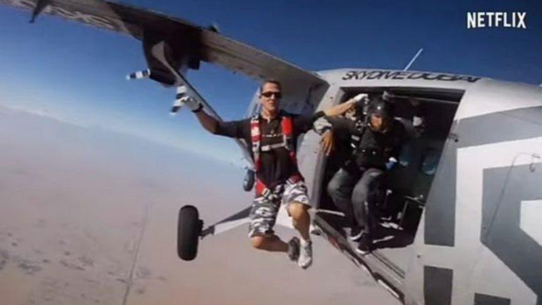 Шумахер се страхувал преди фаталното спускане, скок с парашут можел да го спаси