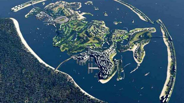 Под дневна светлина олимпийското селце е голям район с гигантски зали, които трябва някак да се използват