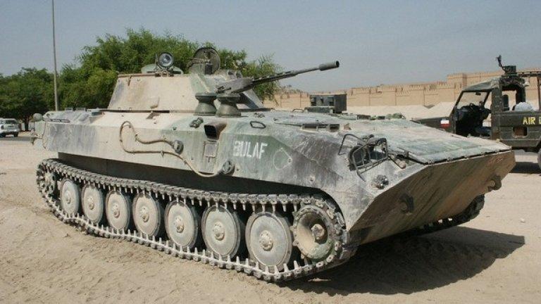 БМП-23 Бойна машина на пехотата създадена в България в началото на 80-те. Корпусът
