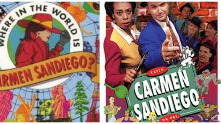 """Where in the World Is Carmen Sandiego?  Видеоигра, създадена за да образова децата по география, затваря кръга като се превръща в ТВ сериал, който изпитва същите тези деца по същите тези географски въпроси. Формулата се оказва толкова успешна, че PBS създава още два сериала, съответно тематично наречени Where in Time Is Carmen Sandiego? и Where on Earth Is Carmen Sandiego? Трите продукции имат общо 35 номинации за награди """"Еми"""".  Повече от 30 години след създаването си, марката Carmen Sandiego продължава да бъде достатъчно популярна, че да накара Netflix да продуцира нов сериал по нея с участието на младата звезда от Stranger Things Фин Улфхард. Сериалът ще дебютира през 2019 г. А ако търсите добра игра от поредицата, не пропускайте Carmen Sandiego: The Secret of the Stolen Drums за PS2, GameCube и Xbox."""