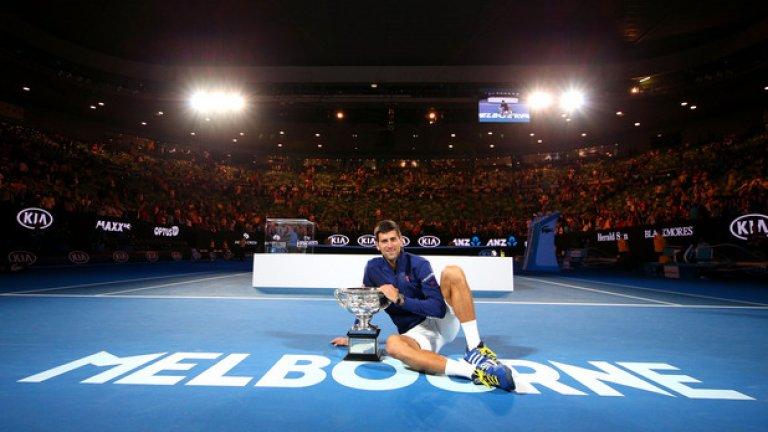 6! Шеста титла за Новак Джокович на Australian Open, с което сърбинът изравни рекорда на Рой Емерсън.