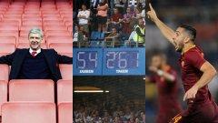 Часовникът, който отброяваше дните на Арсен Венгер в Арсенал спря. Спря и този, който показваше от колко време Хамбургер не е изпадал от Бундеслигата. За Рома също изглежда, че новото броене също едва сега започва. Вижте повече в галерията...