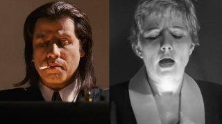 """Куфарчето от """"Криминале"""" (1994 г.) е вдъхновено от Kiss Me Deadly (1955 г.)."""